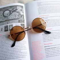 Armação E Óculos De Sol Lennon Ozzy Dourado 4 Parafusos 45mm