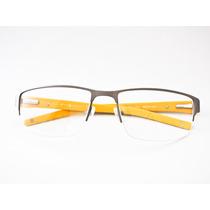 Armação Para Óculos Guga Kuerten Esportivo Grafite E Amarelo