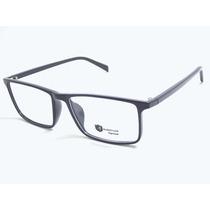 Armação Óculos Acetato Quadrado Masculino Azul T135 C120 Mj