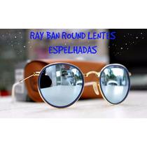 Ray Ban Round Metal Rb3517 Dobravel Lente Espelhada Original