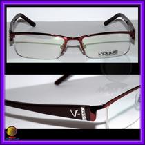 Óculos De Grau, Armação Aro E Haste Cor Vinho Ref.: Vo3700
