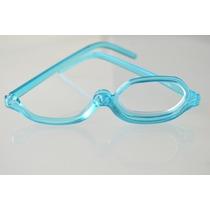 Óculos De Maquiagem Flip Azul Com Estojo Lente +2,50. Lindo