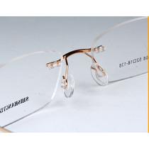 Armação P/ Óculos De Grau Em Titanio Sem Aro Pronta Entrega!