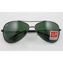 Óculos Rayban 8018 Aviador Grafite Lentes Verdes Envio 24 Hs