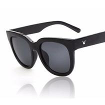 Óculos De Sol Para Mulher Retrô Preto Feminino Importado