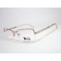 Armação Óculos Feminino Bronze E Tigre Hrj825 Mj