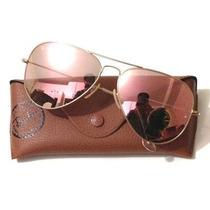 Promoção Oculos Rb Aviador Espelhado Rosa Pink 3025/3026