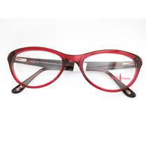 Armação De Óculos Coca-cola Vermelho Acetato Gatinho