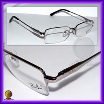 Óculos De Grau, Armação, Aro Grafite Haste Preta Ref.: 8652