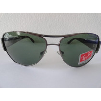 Oculos De Sol Rayban 3358 Aviador Grafite Lente Verde G15