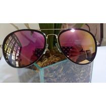 Óculos Fem De Marca Di Espelhado Lente Cristal Prot Uv