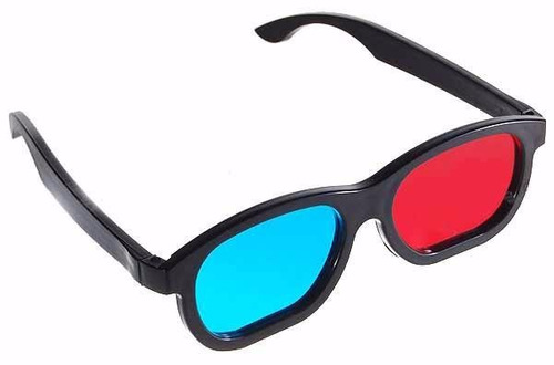 Óculos 3D Anáglifo Azul e Vermelho
