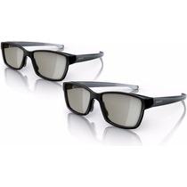 Kit Com 2 Óculos 3d Pta417 Philips Novos