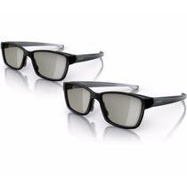 Oculos 3d Philips Mod Pta 417 Passivo Novo Original Cx C/2