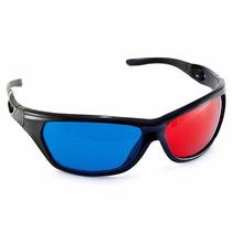 Óculos 3d Red/blue Plastico P/ Filmes 3d Pronta Entrega