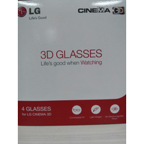 Kit 4 Óculos 3d Lg Passivo Tv Lg Ag-f310 Cinema Confortable