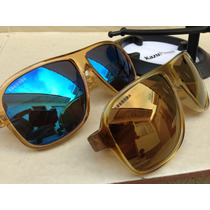 Lote 2 Oculos Modelo Feminino Dourado Lente Espelhada