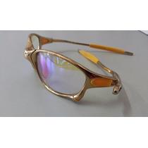 Oakley Squared Juliet 24k Dourada Lente Clear Metal Double X