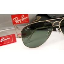 Ray Ban 3025 Armação Dourado Lente Verde_óculos De Sol