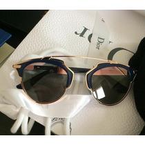 Óculos Dior So Real - Bleu Marine E Ouro Rosa - Importado
