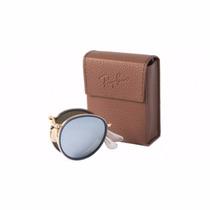 Óculos De Sol Ray Ban Redondo Dobrável Azul Rb 3517 001/30