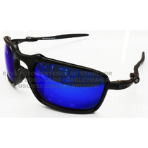 Oculos Badman Black Lente Blue Magic Polarizada Uv/uva 400