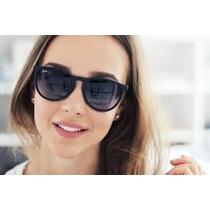 Oculos Erika Preto 4171 Lentes Polarizadas Frete Gratis