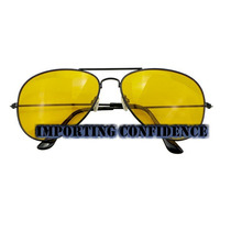 Óculos Night Vision Visão Noturna Aviador Caminhoneiro