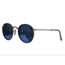 Óculos Hound Dobrável Rb 3517azul Espelhado Unissex Original