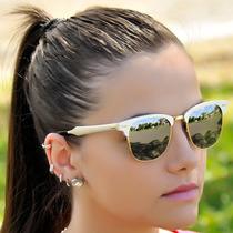 Óculos Ray Ban Clubmaster Prata Rb3507 Aluminiu Frete Grátis
