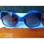 Óculos De Sol Abelhão Azul Lente Fumê Degradê