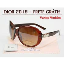 Óculos De Sol 2015 Feminino - Grandes Marcas - Frete Grátis