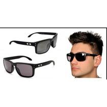 Oculos Holbrook Oakley,lentes 100% Polarizadas,preto Fosco