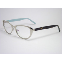 Armação Óculos Feminino Gatinho Prata E Tartaruga Hrm151 Mj