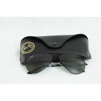 Óculos Ray Ban Aviador Rb3026 - Preto/lentes Verde Degradê
