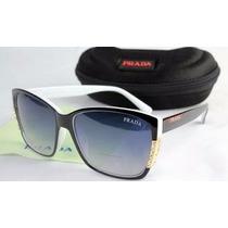 Oculos Preto Premium Pr.ada - Frete Grátis