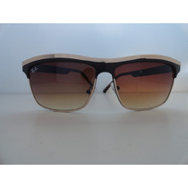 Oculos De Sol Estilo Maskara 1777 Dourado Preto Lente Marrom