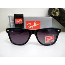 Óculos De Sol Rayban Way Preto/azul Lente Fumê