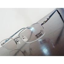 Armação Oculos Grau Modelo Mb89 Prata E Cinza Meio Aro Linda