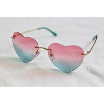 Óculos De Sol Feminino Degrade Lolita Coração