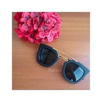 Óculos Praada Feminino Geometric Preto Fosco