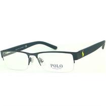 Óculos De Grau Polo Ralph Lauren Metal Azul Petróleo