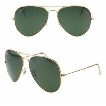 Oculos Aviador Rayban Rb 3026 Verde Ray Ban Original Novo