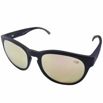 Óculos Mormaii Ventura Preto Fosco E Lente Marrom Espelhada