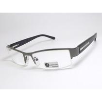 Armação Óculos Masculino Esportivo Chumbo Preto Hr29031 C Mj