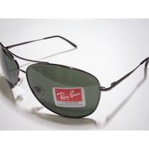 Oculos De Sol 8018 Aviador Grafite Lente Verde G15