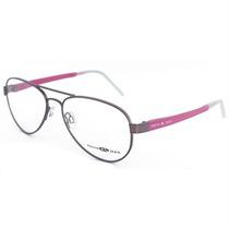 Oculos Grau Feminino Marie & Jean Aviador Metal Grafite Rosa
