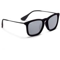 Óculos De Sol Rayban Original Chris Veludo - Lente Espelhada