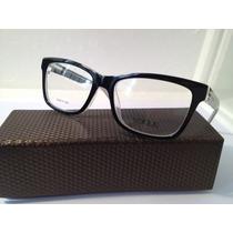 Armação De Óculos Vogue Acetato Preto Com Branco