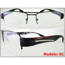 Óculos P57 Acetato C/ Metal Masculino Feminino Luxo Unissex